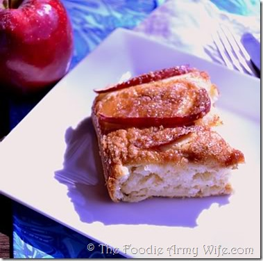 Apple Kuchen from The Foodie Army Wife