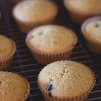 Blueberry Poppyseed Muffins with Lemon Glaze