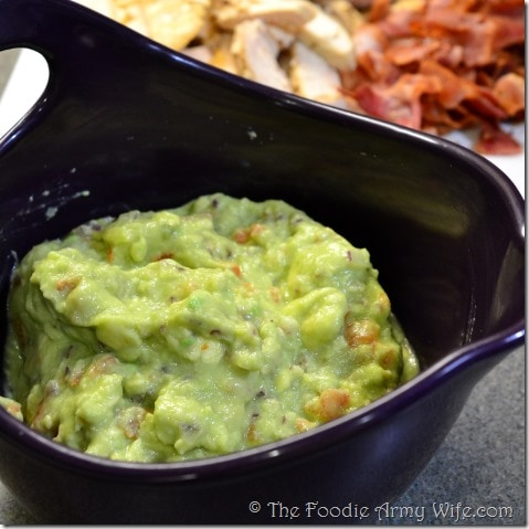 Homemade Guacamole from The Foodie Army Wife