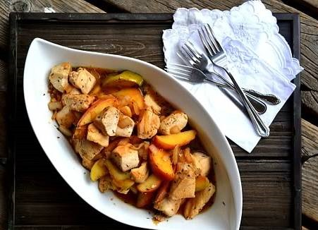 Skillet seared chicken with sauteed apples and the flavor of maple. This flavorful dish is quick to make, and great for a weeknight dinner.