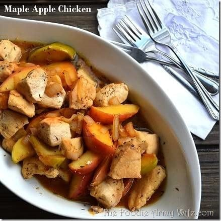 Maple Apple Chicken from The Foodie Army Wife