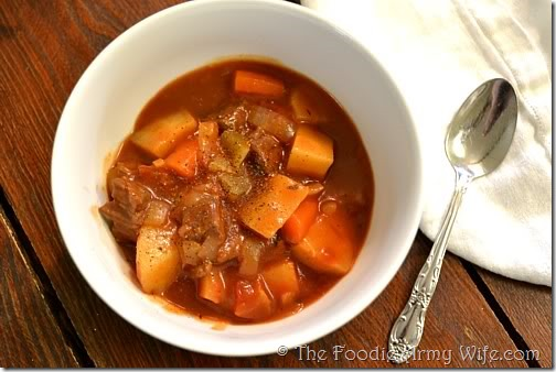 Easy Oven Stew from The Foodie Army Wife