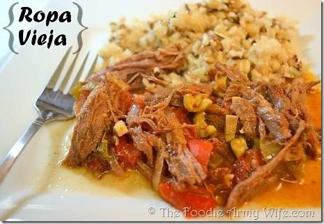 Ropa Vieja from The Foodie Army Wife
