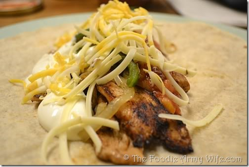 Chicken Fajitas from The Foodie Army Wife