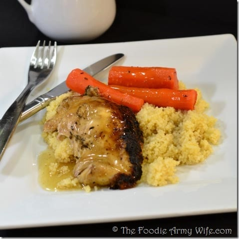Crockpot Chicken from The Foodie Army Wife
