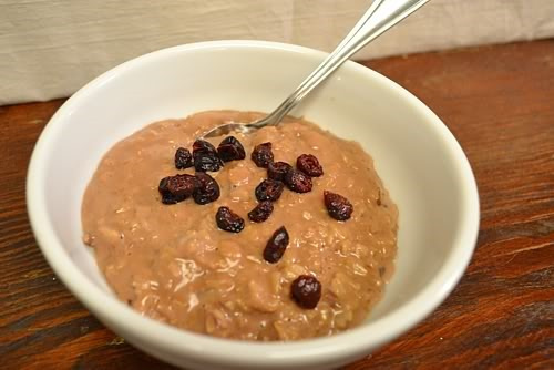 Nutella-Pecan Oatmeal from The Foodie Army Wife