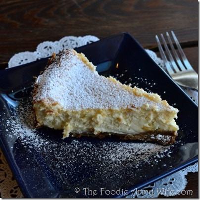 Key Lime Cheesecake from The Foodie Army Wife