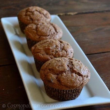 Super Scrumptious Nutella Chocolate Chip Muffins from Cosmopolitan Cornbread