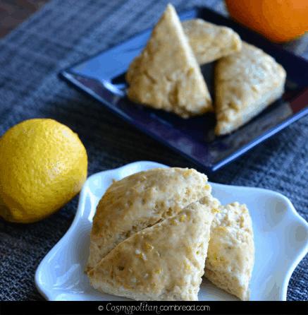 Orange and Lemon Cream Scones from Cosmopolitan Cornbread