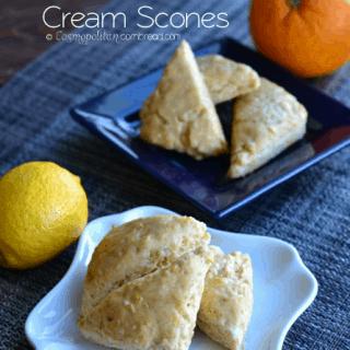 Lemon or Orange Cream Mini Scones