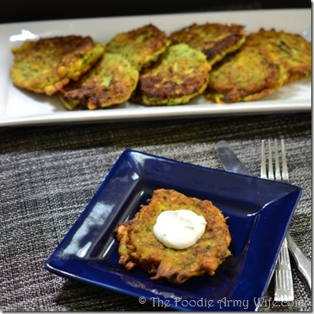 Zucchini Corn Fritters from The Foodie Army Wife