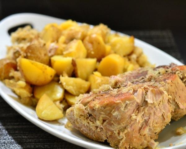German Pork Roast & Sour Kraut