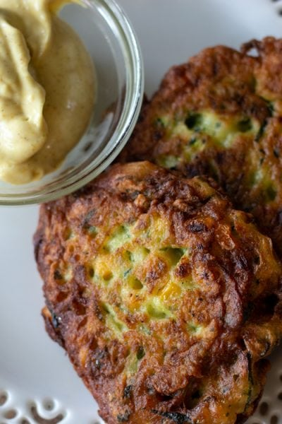 Zucchini Corn Fritters have a wonderful crunch on the outside, and all the goodness of fresh zucchini on the inside.