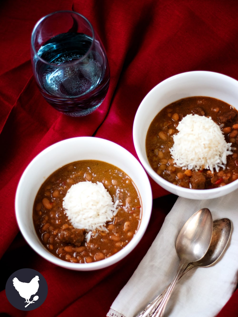 Caribou Andouille chili from Cosmopolitan Cornbread - this hunter chili can be made with caribou, moose, venison or even beef.