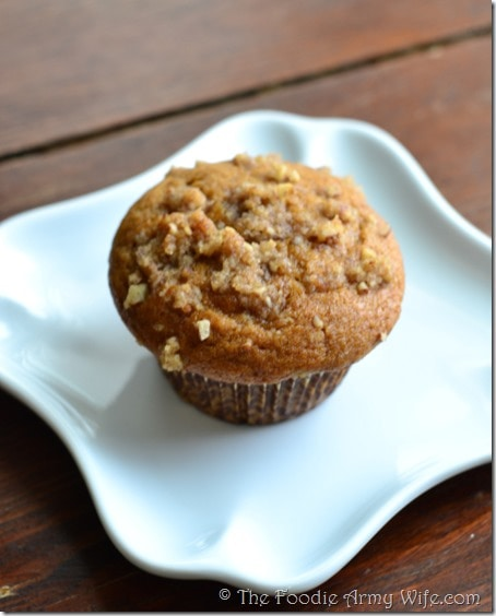Sweet Potato Casserole Muffins from The Foodie Army Wife