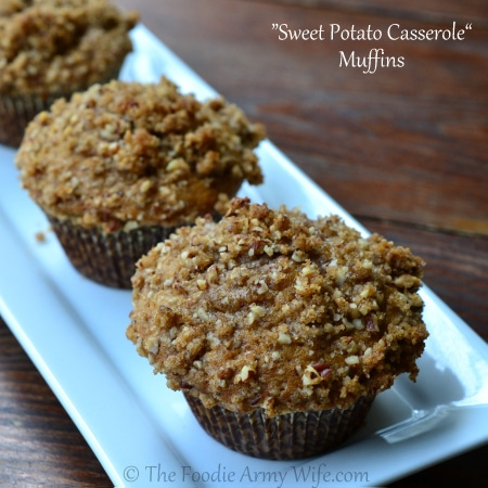 Sweet Potato Casserole Muffins | The Foodie Army Wife.com