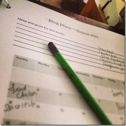 Getting Organized | #Printable Blog Planner