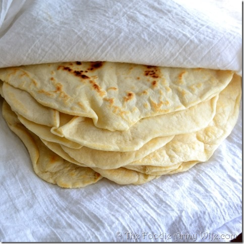 Homemade Tortillas from The Foodie Army Wife.com