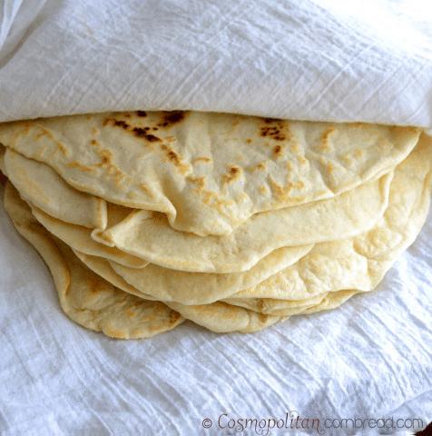 Homemade Tortillas from Cosmopolitan Cornbread