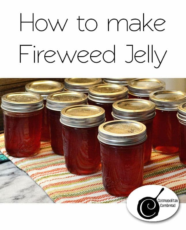 How to make delicious jelly form fireweed blossoms. A great foraging recipe!