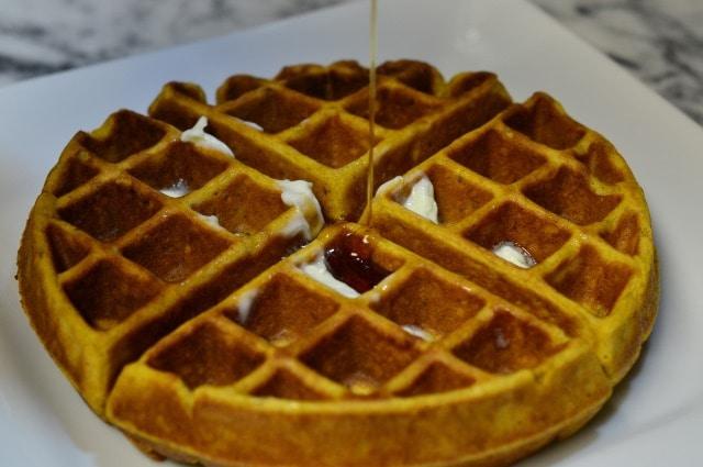 Spiced Pumpkin Waffles | Cosmopolitan Cornbread