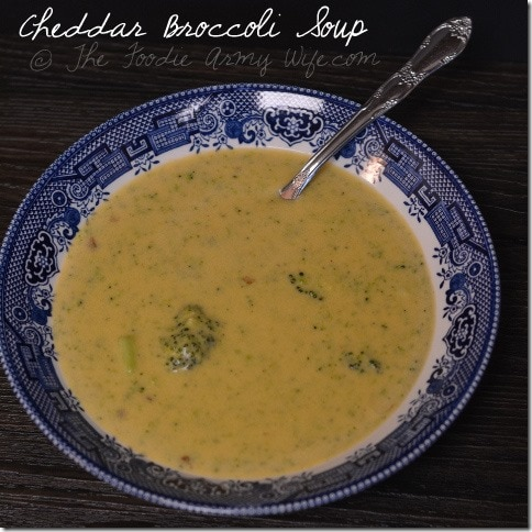 Cheddar Broccoli Soup | The Foodie Army Wife