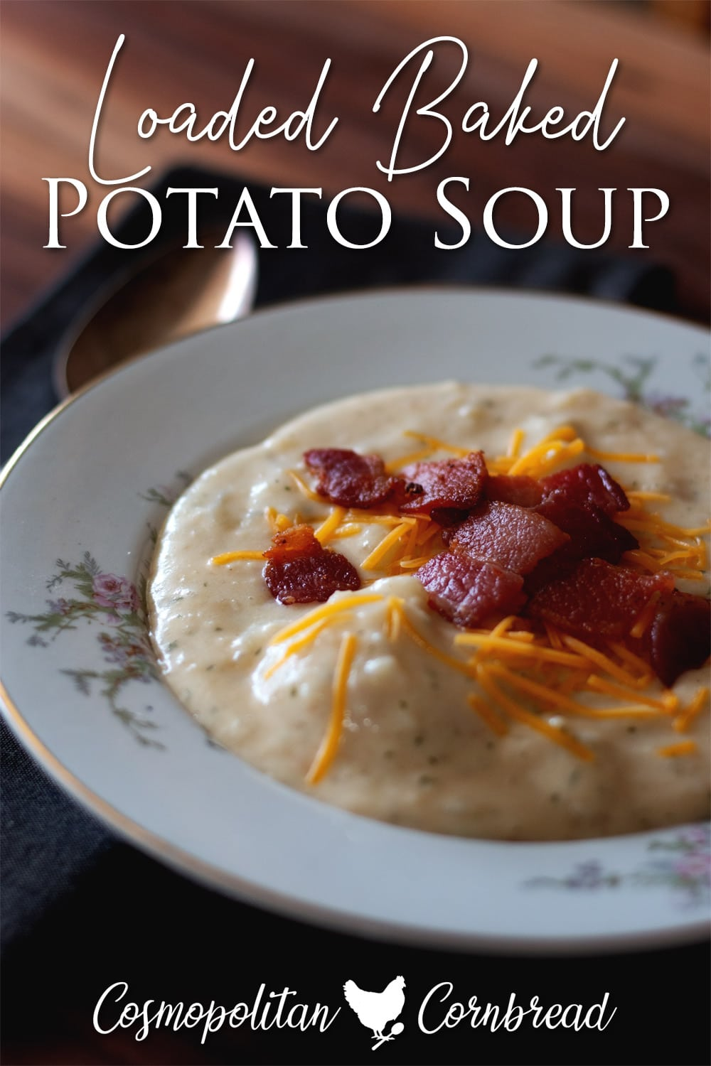 Absolutely heavenly loaded baked potato soup. This soup is everything you love about baked potatoes.