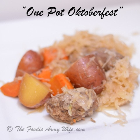 One Pot Oktoberfest | Crockpot Supper