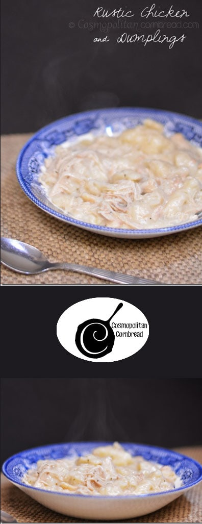 How to make good old fashioned Rustic Chicken and Dumplings. Get the recipe from Cosmopolitan Cornbread