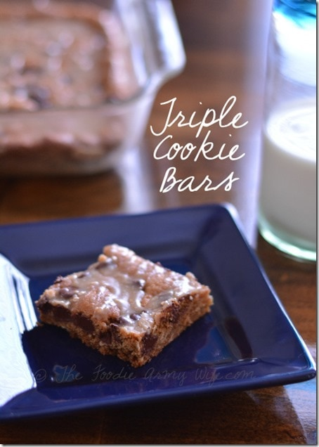 Triple Cookie Bars   The Foodie Army Wife
