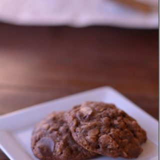 Double Chocolate Oatmeal Cookies