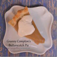Granny Compton's Butterscotch Pie