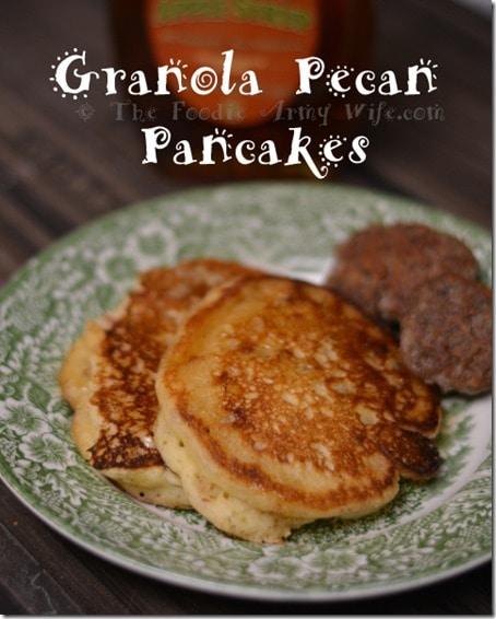 Granola Pecan Pancakes - TFAW