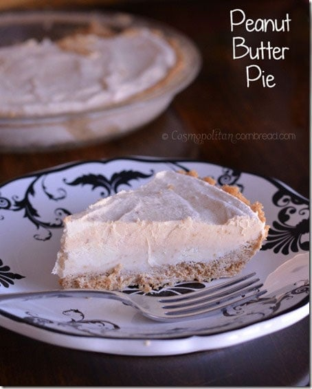 No Bake Peanut Butter Pie from Cosmopolitan Cornbread