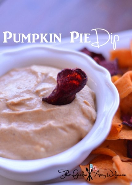 Pumpkin Pie Dip from The Foodie Army Wife