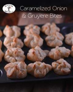 Caramelized Onion and Gruyere Bites from The Foodie Army Wife