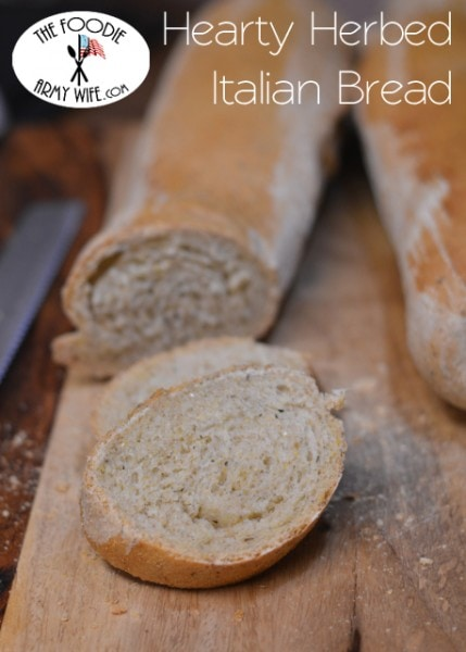 Hearty Herbed Italian Bread from The Foodie Army Wife