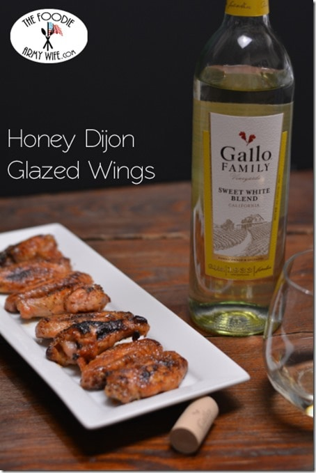 Honey Dijon Glazed Wings from The Foodie Army Wife