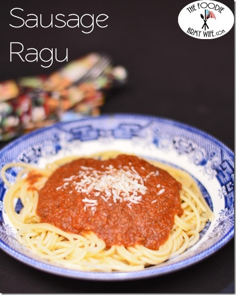 Crockpot Sausage Ragu from The Foodie Army Wife