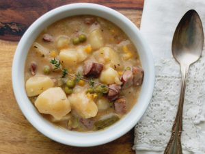 Kielbasa Stew is a rich and creamy stew with delicious flavor.