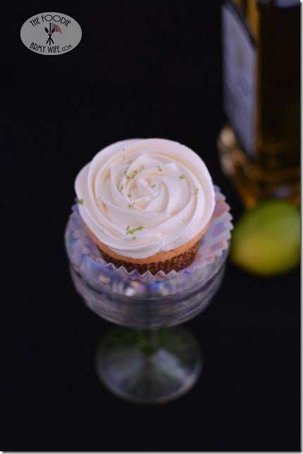 Margarita Cupcakes from The Foodie Army Wife for National Margarita Day
