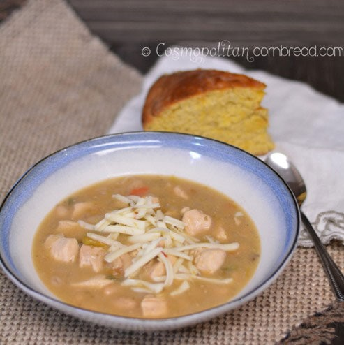 Chase away the winter chill with White Chicken Chili. Get the recipe from Cosmopolitan Cornbread