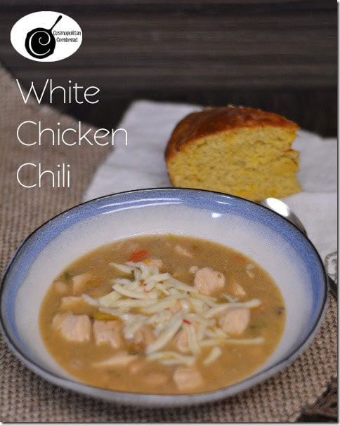 Chase away the winter chill with White Chicken Chili. Get this recipe and over 30 more chili recipes from Cosmopolitan Cornbread