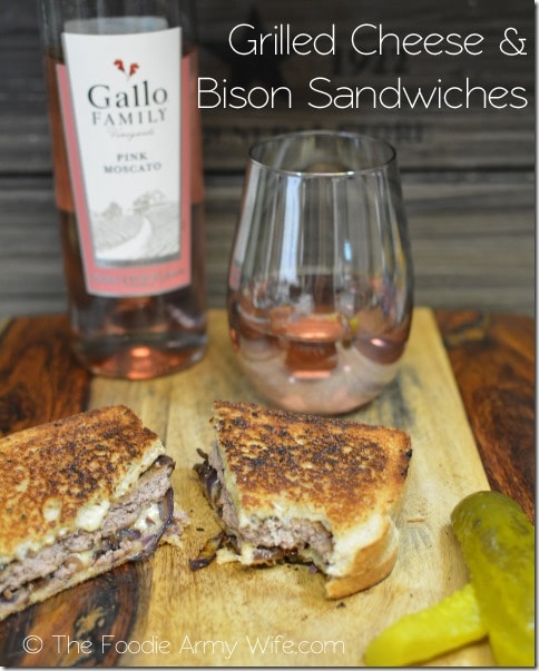 Grilled Cheese n Bison Sandwiches