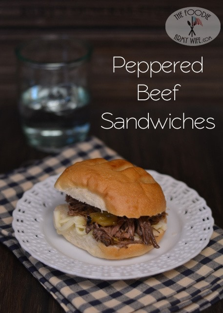 This is a great crockpot meal for a weeknight. Beef that is infused with peppers and vinegar to create tangy, tender and slightly spicy sandwiches.
