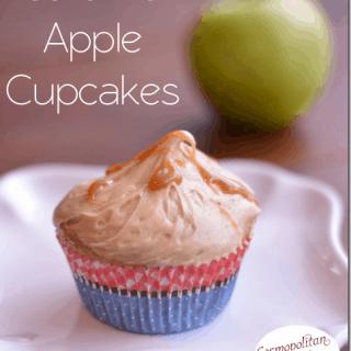 Caramel Apple Cupcakes with Caramel Icing