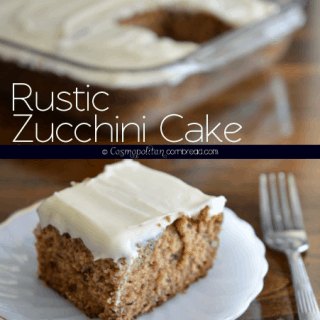 Rustic Zucchini Cake with Cream Cheese Frosting