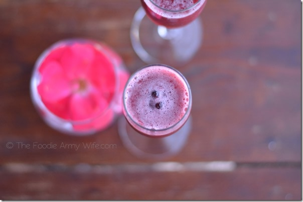 Blackberry Bellinis from The Foodie Army Wife
