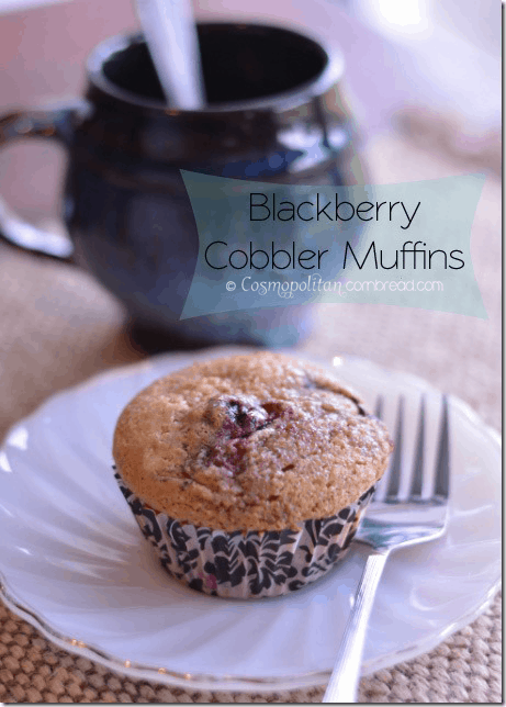 Blackberry Cobbler Muffins from Cosmopolitan Cornbread
