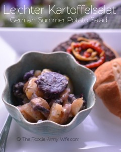 Leichter Kartoffelsalat - German Summer Potato Salad from The Foodie Army Wife for #SundaySupper